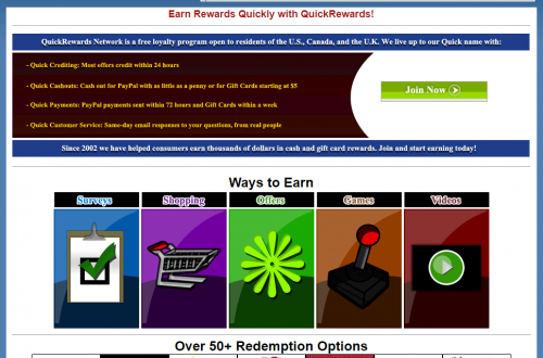 Quick Rewards Paid Surveys Site