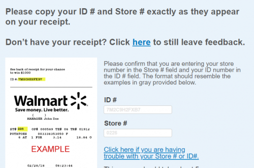 Walmart Survey & Sweepstakes Site