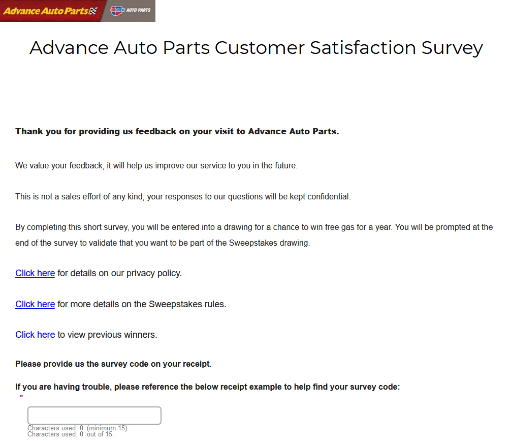 advanceautoparts.com/survey