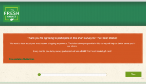 The Fresh Market Survey