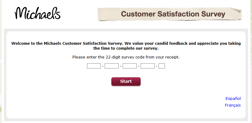 MyMichaelsVisit - Michaels Customer Satisfaction Survey
