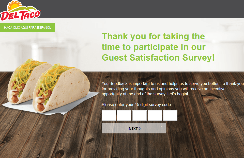 MyOpinion Del Taco Survey