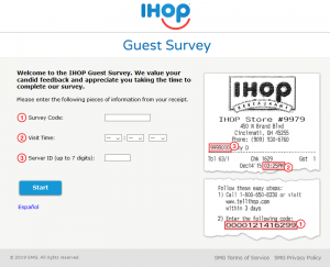 IHOP Guest Satisfaction Survey