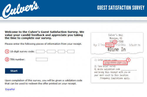 TellCulvers - Culver's Guest Satisfaction Survey