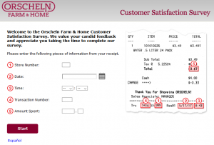 TellOfH - Orscheln Farm Home Customer Satisfaction Survey