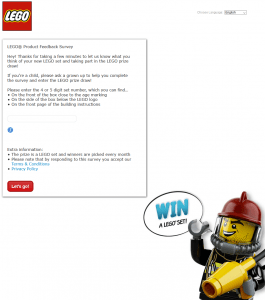 LEGO Product Feedback