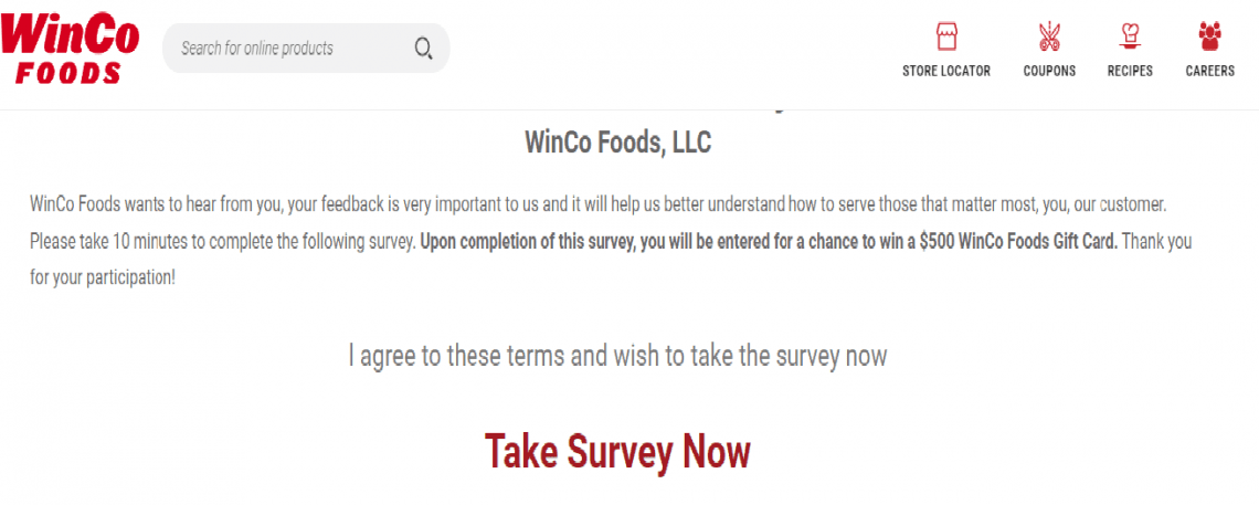 WinCo Food Survey Review
